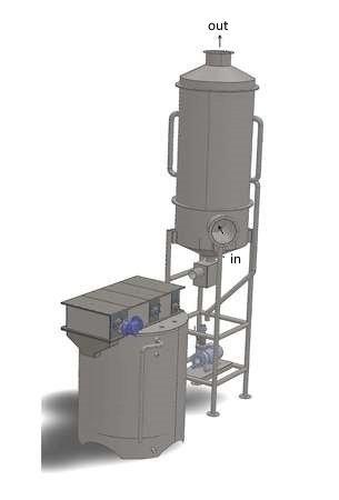 Layout Kesselabgas-Waschvorrichtung