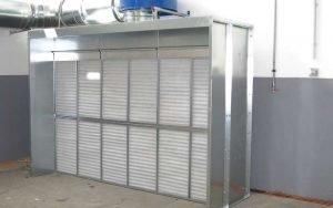 Abzugshaube für Schweiß- und Metallschleifarbeiten