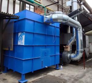 Applicazione 1: filtro a coalescenza per trattamento termico acciaio