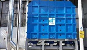 Regenerative thermische Abluftreinigung zur VOC-Behandlung aus der Schleifmittelproduktion