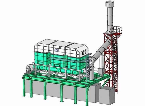 Struktur der Nachbrennkammer