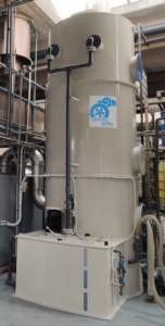 Nasswäscher zur Minderung von Dämpfen aus der Herstellung von Waschmitteln