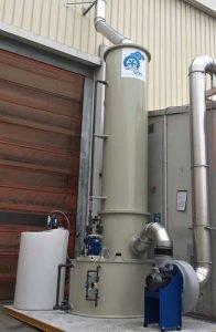 Anwendung 3: PP-Scrubber mit Ventilator und Dosiersystem