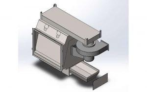 Turbovortex, mit Installation an einem kleinen Biomassekessel