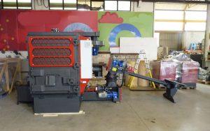 Biomassekessel mit installiertem Multizyklon