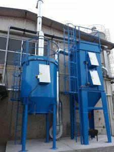 Anwendung 1: ATEX Zweischritt-Anlage, zur Filtration von Stäuben und VOCs Bekämpfung