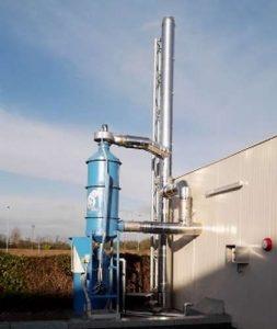Biomasse-Emission Rauchwäsche