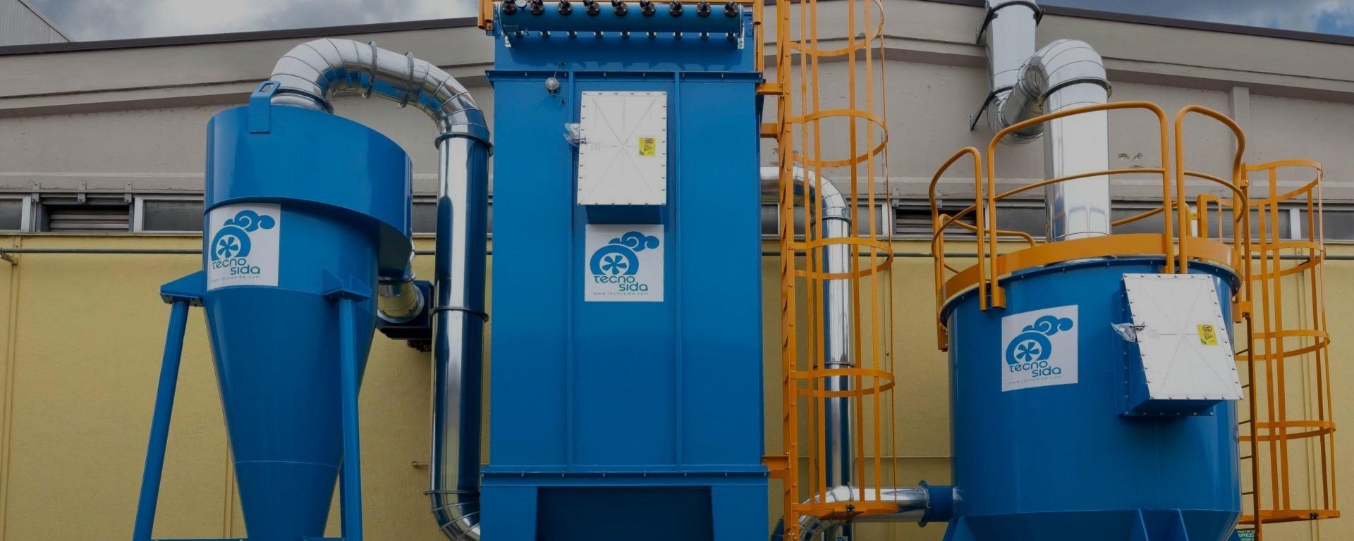 Technologische Anlagen zur Behandlung von Luftschadstoffen